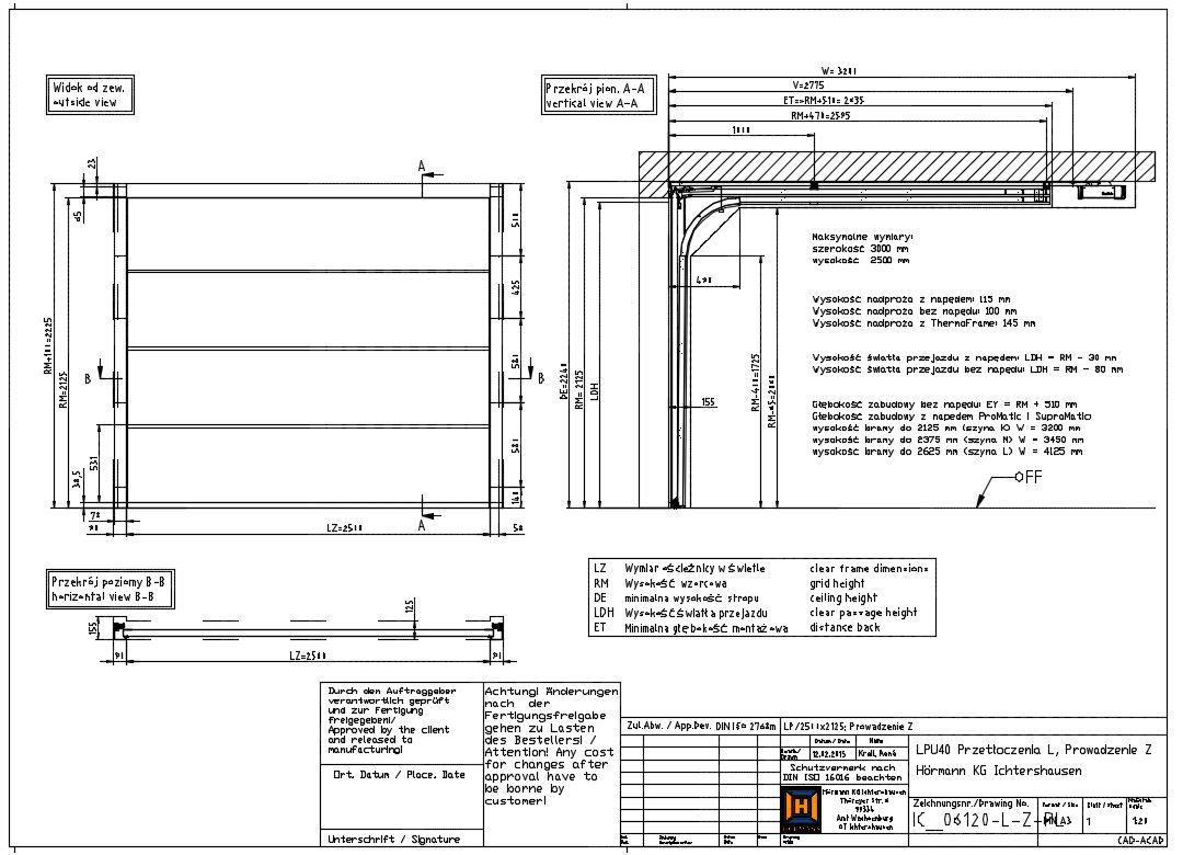Gate With Z 100 Mm Headroom Small Gate H 246 Rmann Cad