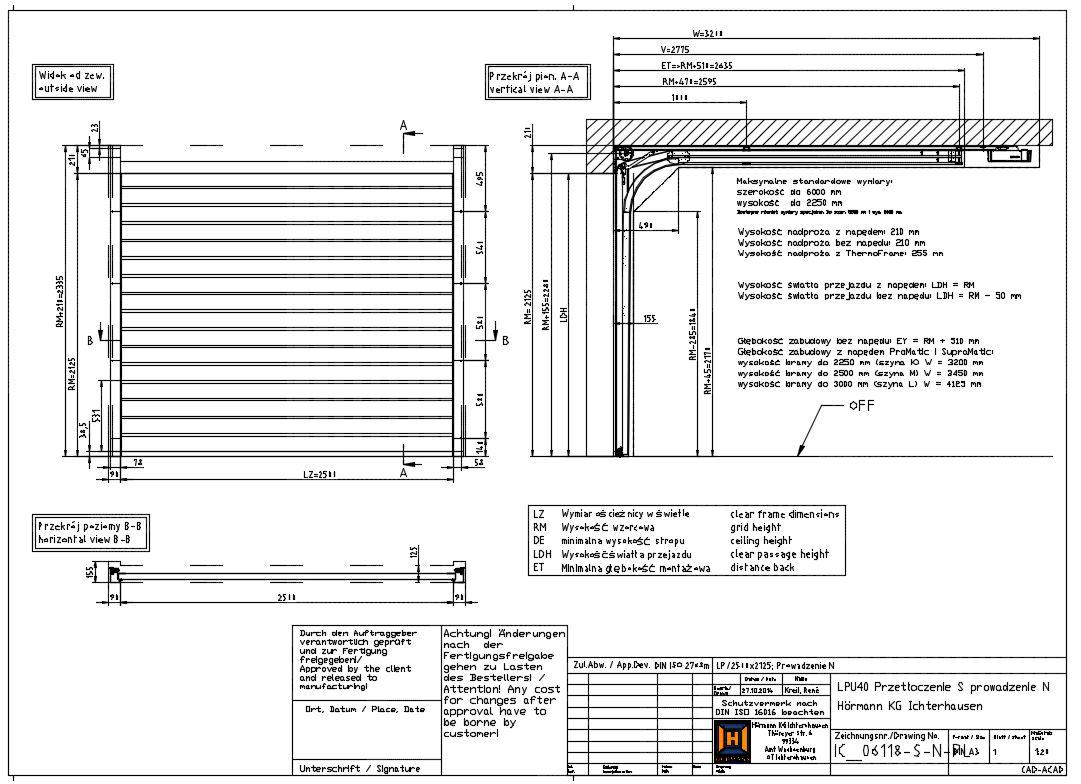 Gates With Normal N 210 Mm Headroom H 246 Rmann Cad Dwg