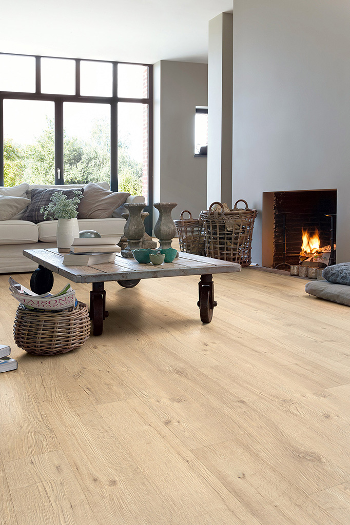Quick Step Laminate Flooring Impressive Oak Sandblasted Natural Im1853