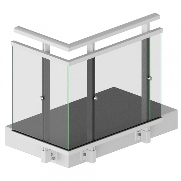 Morad Sp. z o. o. - Corner AB-GO2 with polycarbonate solid side mounting