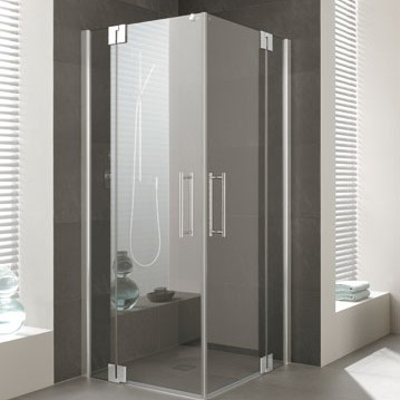 Kermi - Kermi - Cabin Corner Swing door with fixed fields
